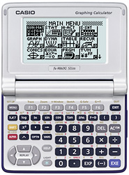 CASIO fx-9860G Slim Graphic Calculator (Images courtesy CASIO)