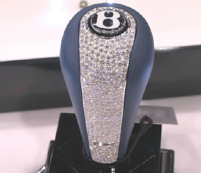 diamond studded bentley shifter knob