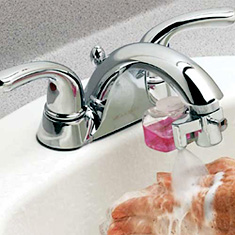 Faucet Foam (Image courtesy Get Organized)
