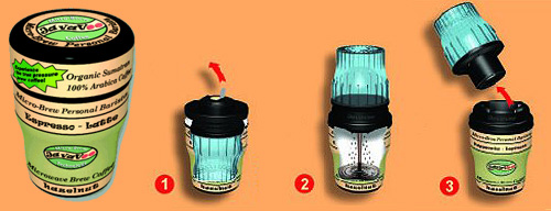 JavaVoo Micro-Brew Personal Barista (Images courtesy JavaVoo)