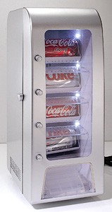 12 Can Vending Machine Fridge (Image courtesy Gifts and Gadgets Online)