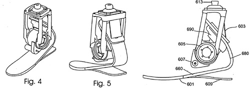 Hi-tech Artificial Foot Patent (Image courtesy US Patent & Trademark Office)