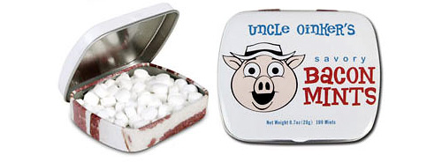 Uncle Oinker's Bacon Mints (Image courtesy Perpetual Kid)