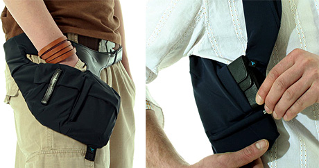 Gadget Hip And Shoulder Holsters (Images courtesy ThinkGeek)
