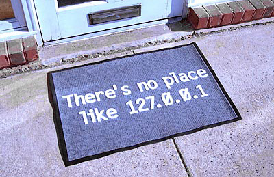 "No Place Like ""Home"" Door Or Floor Mat (Image courtesy ThinkGeek)"