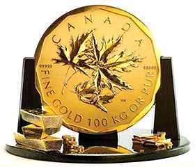 Royal Canadian Mint $1 Million Coin (Image courtesy Reuters)