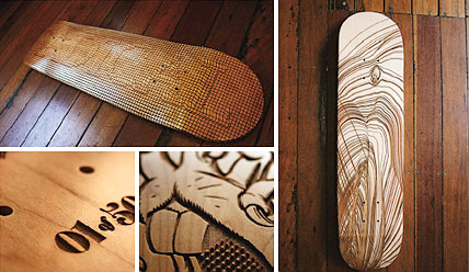 3D Art Skateboard Decks (Images courtesy Wired.com)