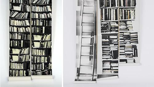 Genuine Fake Bookshelf Wallpaper (Images courtesy Deborah Bowness)