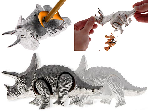 Wind-Up Walking Triceratops Pencil Sharpener (Images courtesy Vat19)