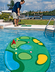 Poolside Golf Game (Image courtesy Solutions)