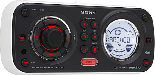 Sony CDX-HS70MW Marine Head Unit (Image courtesy Sony)