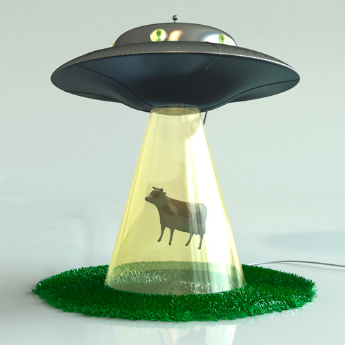Alien Abduction Lamp
