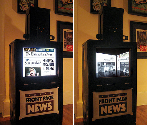 DIY Digital Newsstand (Images courtesy Design on deadline)