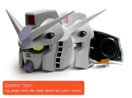 gundam robots head speakers