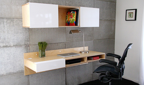 MASH Studios LAX Wall Mounted Desk (Image courtesy Design Public)