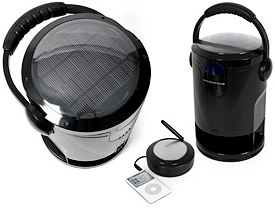 Wireless Outdoor Solar Speakers (Images courtesy Firebox)