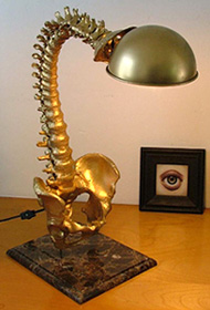 Spine Lamp (Image courtesy Mark Beam Studios)