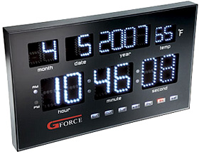 Gforce Power LED Calendar Clock (Image courtesy Gadget Universe)