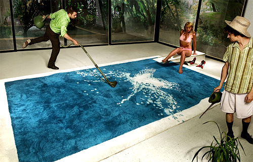 Swimming Pool Backyard grand grand splatch rug for those who dream of an indoor swimming