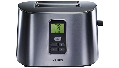 Krups Stainless Metal Toaster with LCD Screen (Image courtesy Cooking.com)