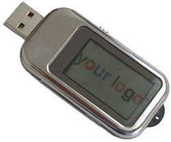 USB Flash Drive with built-in LCD Display (Image courtesy Electronic Gadgets)