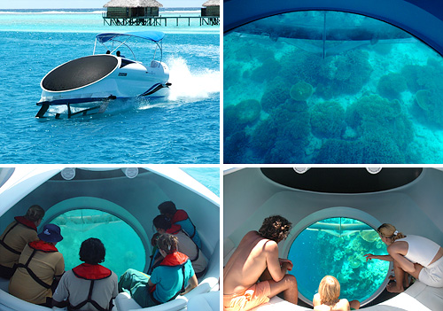 LOOKER 25 Glass Bottom Speed Boat (Images courtesy PARITETBOAT)