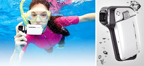 Sanyo Xacti CA65 Underwater Camcorder (Images courtesy Sanyo)