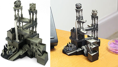 Escher Waterfall Sculpture (Images courtesy ThinkGeek)