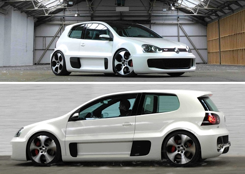 Volkswagen Golf GTI W12 (Images courtesy Fifth Gear)