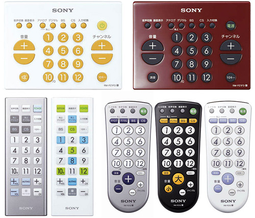 Sony Infrared Ray Remotes (Images courtesy AVING USA)