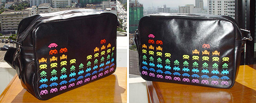 Rockza Space Invaders Bag (Images courtesy dcx design complex)