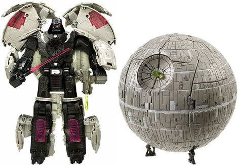 Hasbro Star Wars Transformer Deluxe Death Star (Image via Uber Review)