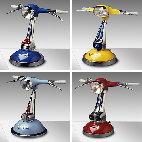Lamponi Vespa Lamps (Images courtesy Lamponi's Lamps)
