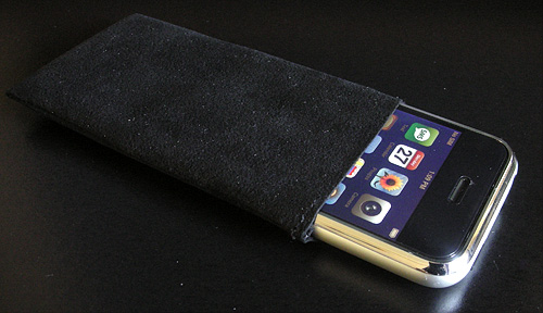 WaterField Designs iPhone Suede Jacket Case (Image property OhGizmo!)