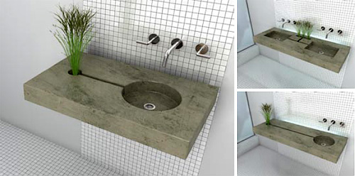 Zen Garden Sink (Images courtsy Gau Designs)