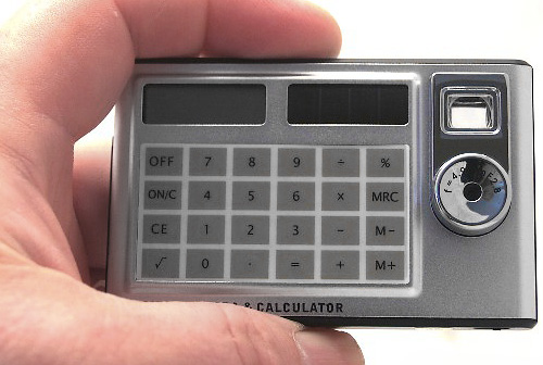 Digital Card Calculator Camera (Image courtesy Crimebusters)