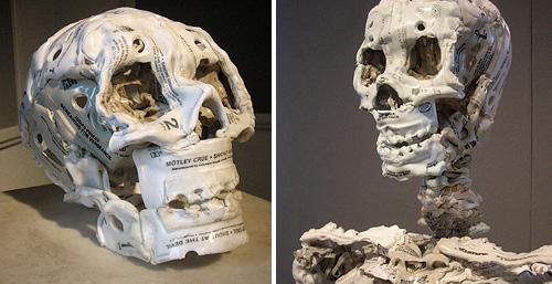 Audio Cassette Skull And Skeleton (Images courtesy Andrew Huff)