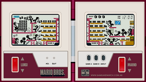 Mario Bros. Game & Watch (Image courtesy Handheld Remakes)