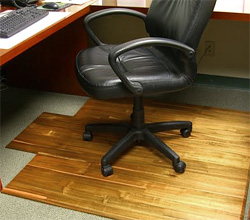 Hardwood Office Chair Mat (Image courtesy Hammacher Schlemmer)
