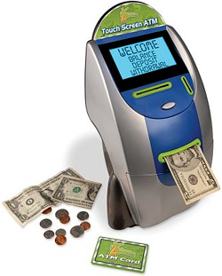 Children's Touchscreen ATM Bank (Image courtesy Hammacher Schlemmer)