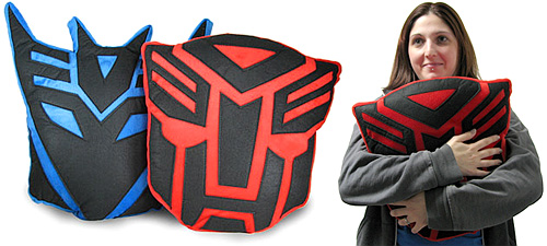 Transformers Pillows (Images courtesy ThinkGeek)