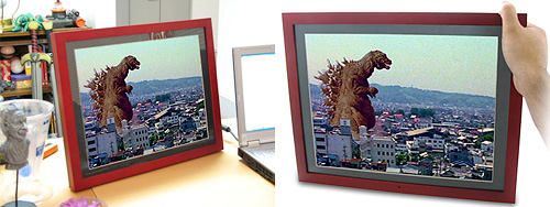 Gigantor Digital Photo Frame (Images courtesy ThinkGeek)