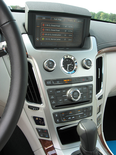 interior of 2008 cts