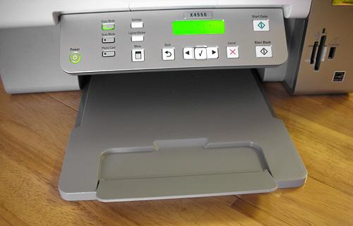 Lexmark X4550 All-In-One Wireless Printer (Image property of OhGizmo!)