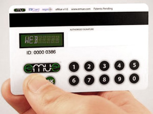 Credit Card Embedded Authentication Device (Image courtesy Gizmag)