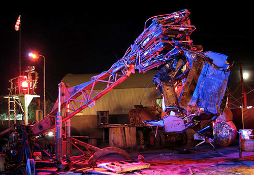 Car Crushing Robot Hand (Image courtesy Wired)