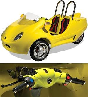 Two-Person Three-Wheeled Scooter Coupe (Image courtesy Hammacher Schlemmer)