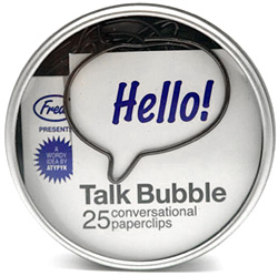 Talk Bubble Paperclips (Image courtesy MoMA Store)