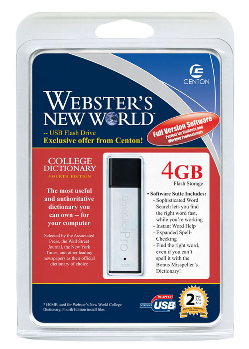 Webster's Dictionary on USB (Image via Centon Electronics)