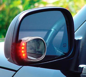 Wireless Turn Indicator Mirror (Image courtesy SkyMall)